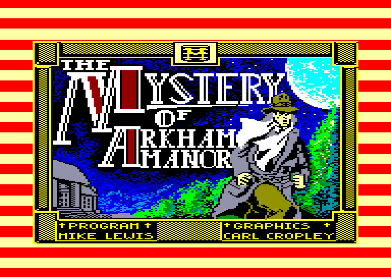 screenshot of the Amstrad CPC game Mystery of arkham manor (the) by GameBase CPC