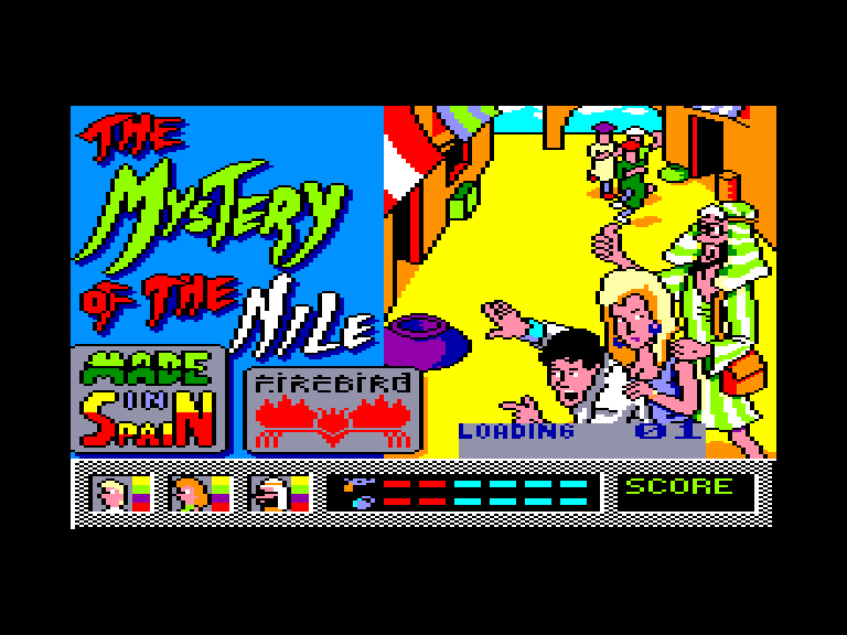 screenshot of the Amstrad CPC game Mystery of the nile (the) by GameBase CPC