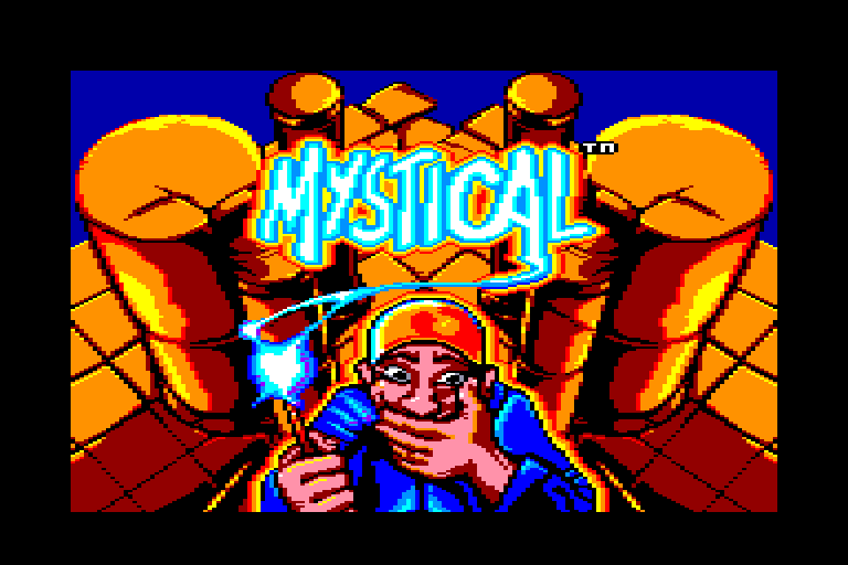 screenshot of the Amstrad CPC game Mystical by GameBase CPC