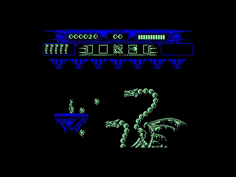 screenshot of the Amstrad CPC game Myth - History in the Making by GameBase CPC