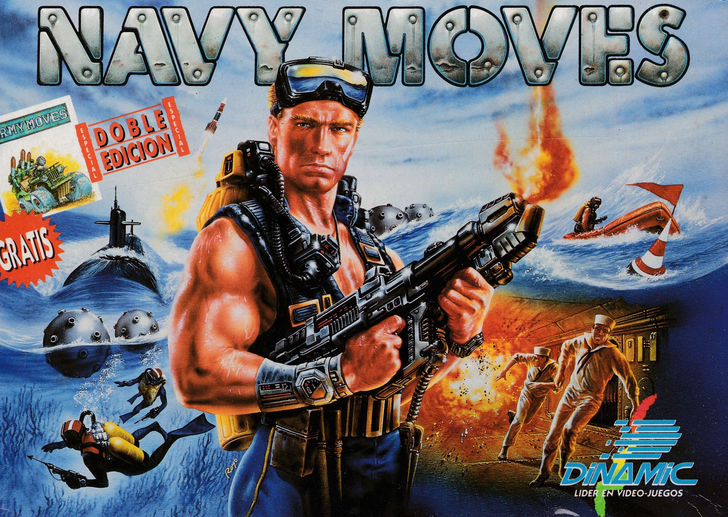 screenshot of the Amstrad CPC game Navy Moves by GameBase CPC