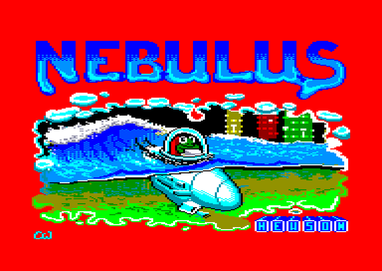 screenshot of the Amstrad CPC game Nebulus by GameBase CPC