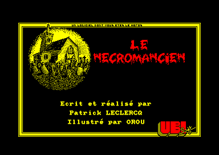 screenshot of the Amstrad CPC game Necromancien (le) by GameBase CPC