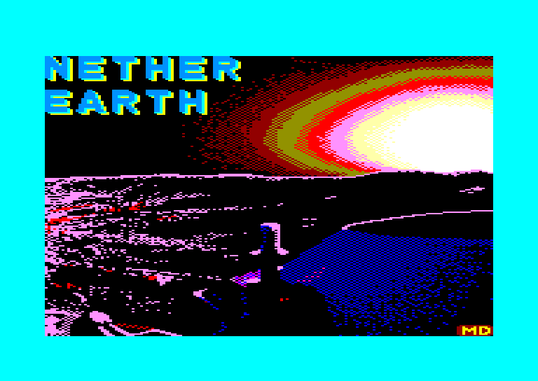 screenshot of the Amstrad CPC game Nether earth