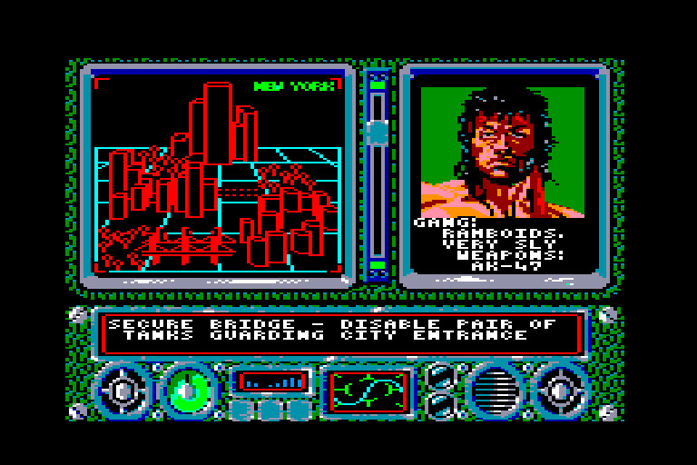 screenshot of the Amstrad CPC game New york warriors by GameBase CPC