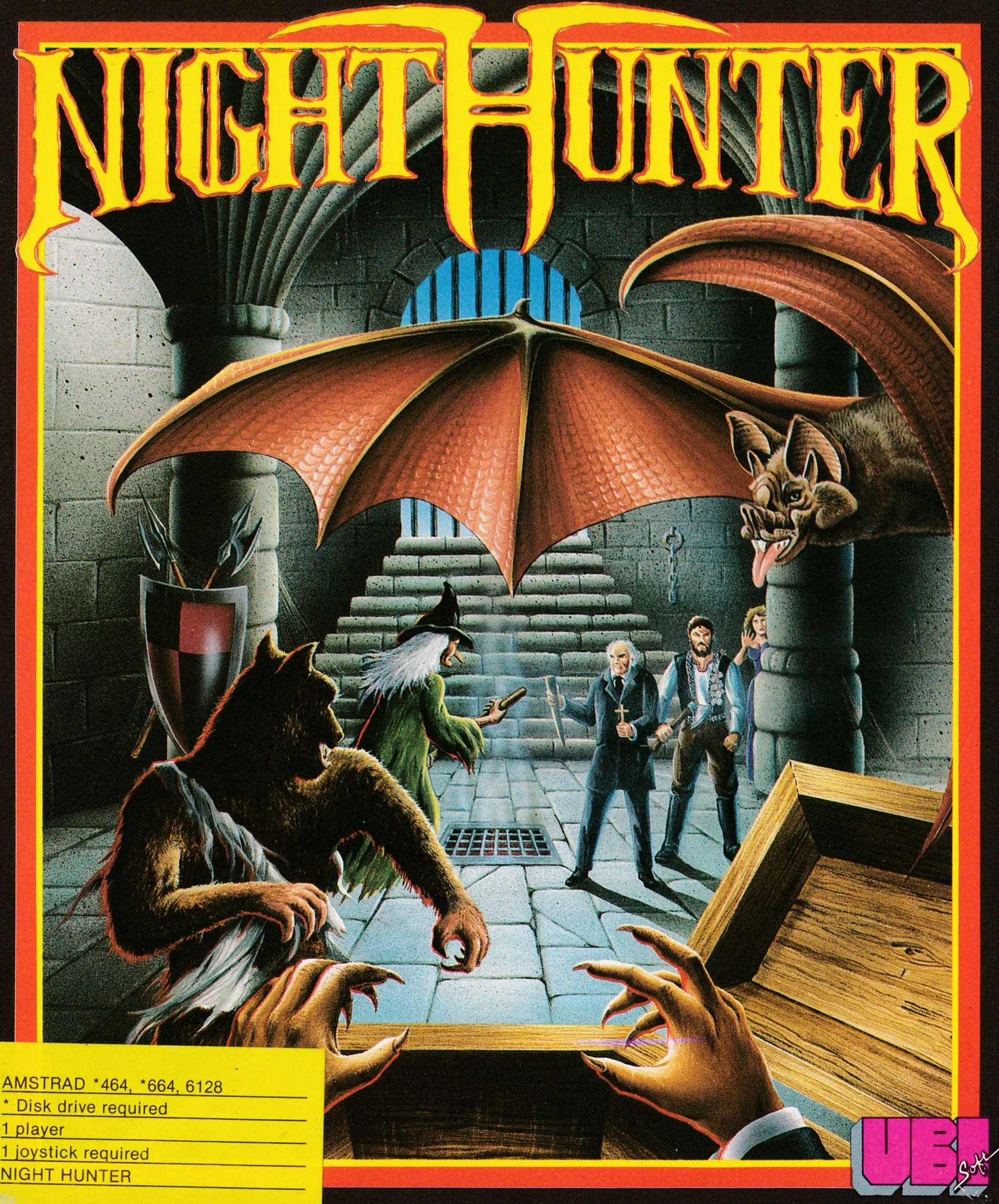 screenshot of the Amstrad CPC game Night Hunter by GameBase CPC