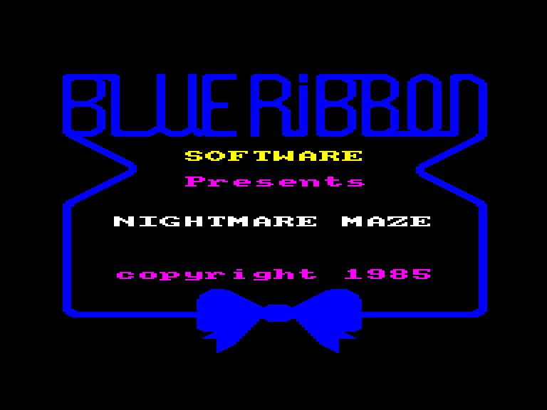 screenshot of the Amstrad CPC game Nightmare maze by GameBase CPC