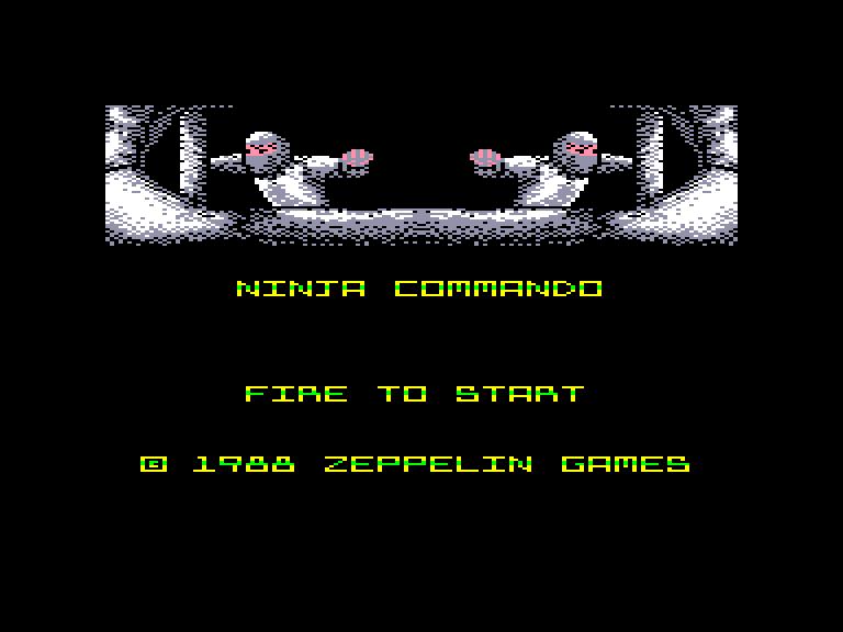 screenshot of the Amstrad CPC game Ninja commando by GameBase CPC