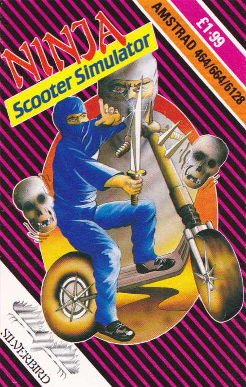 cover of the Amstrad CPC game Ninja Scooter Simulator  by GameBase CPC