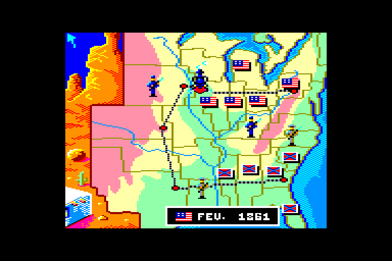 screenshot of the Amstrad CPC game North & South by GameBase CPC