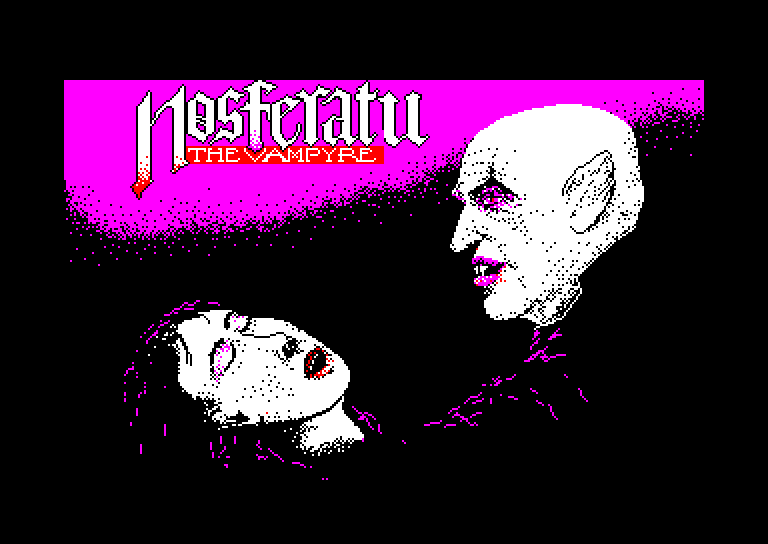 screenshot of the Amstrad CPC game Nosferatu the vampyre by GameBase CPC