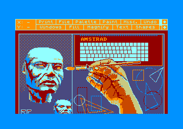 screenshot of the Amstrad CPC game Advanced OCP Art Studio (the) by GameBase CPC