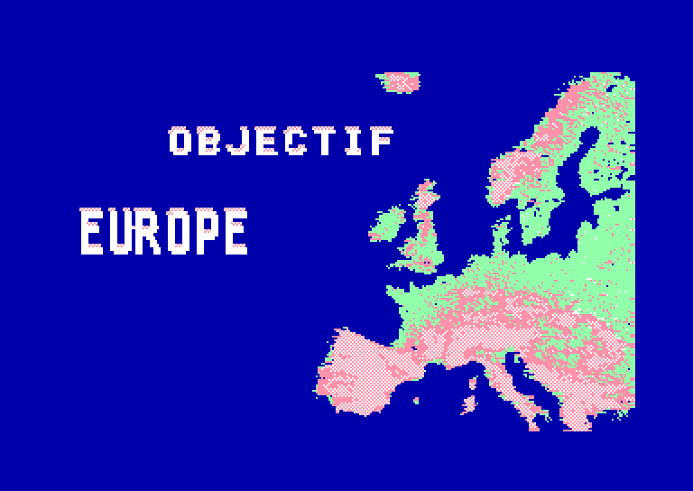 screenshot of the Amstrad CPC game Objectif Europe by GameBase CPC