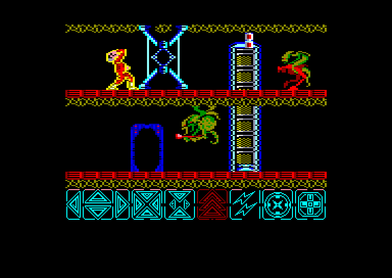 screenshot of the Amstrad CPC game Obliterator by GameBase CPC