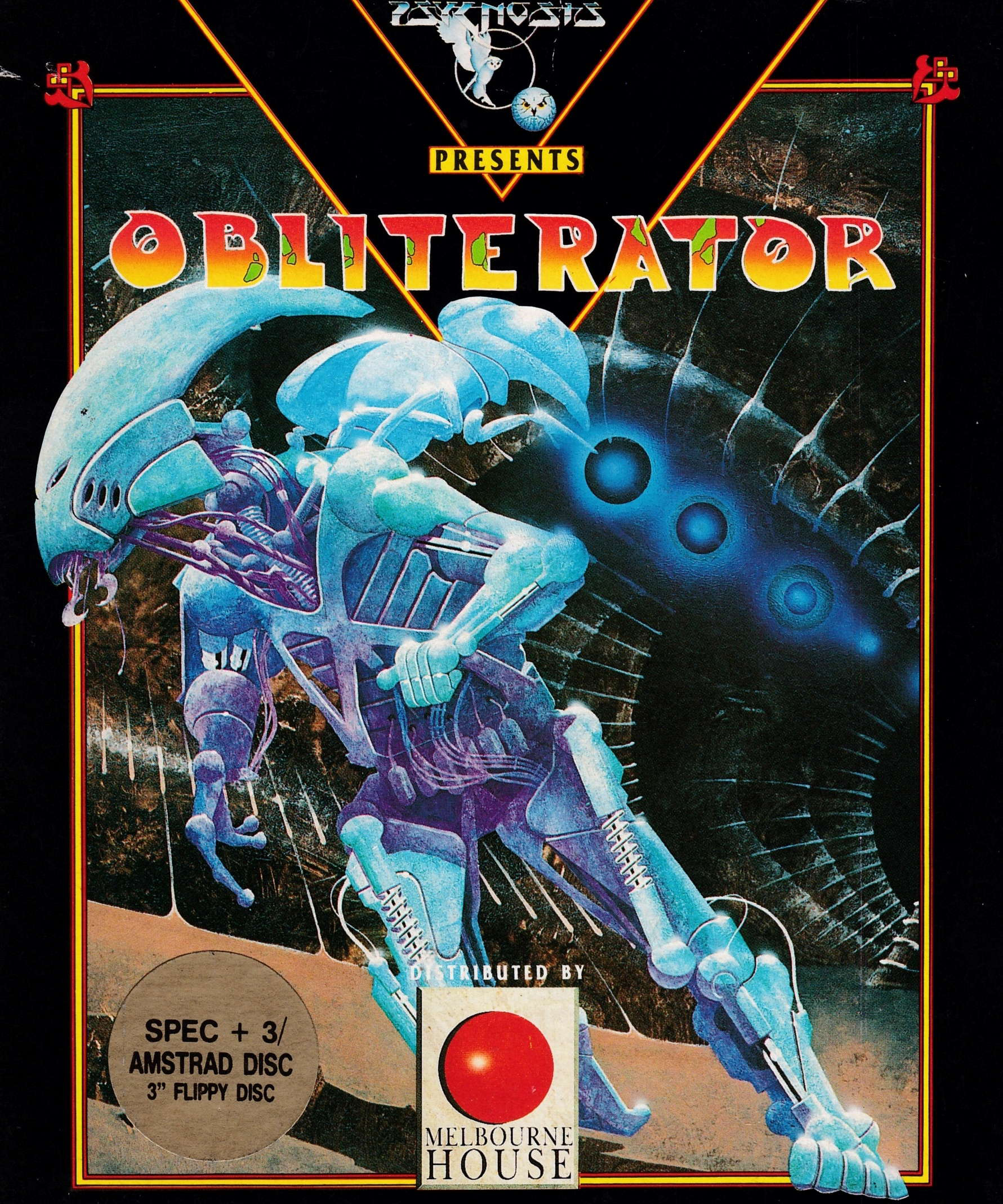 cover of the Amstrad CPC game Obliterator  by GameBase CPC
