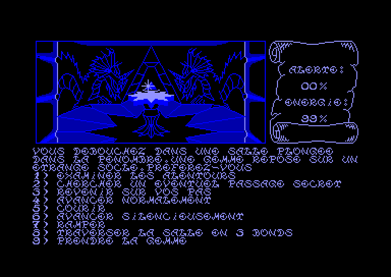 screenshot of the Amstrad CPC game Oeil de Set (l') by GameBase CPC