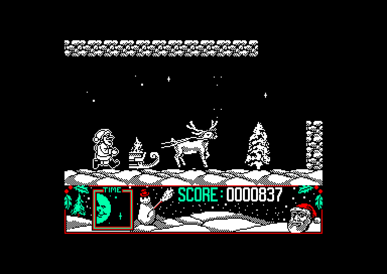screenshot of the Amstrad CPC game Official father christmas game (the) by GameBase CPC