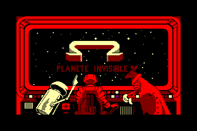 screenshot of the Amstrad CPC game Omega planete invisible by GameBase CPC