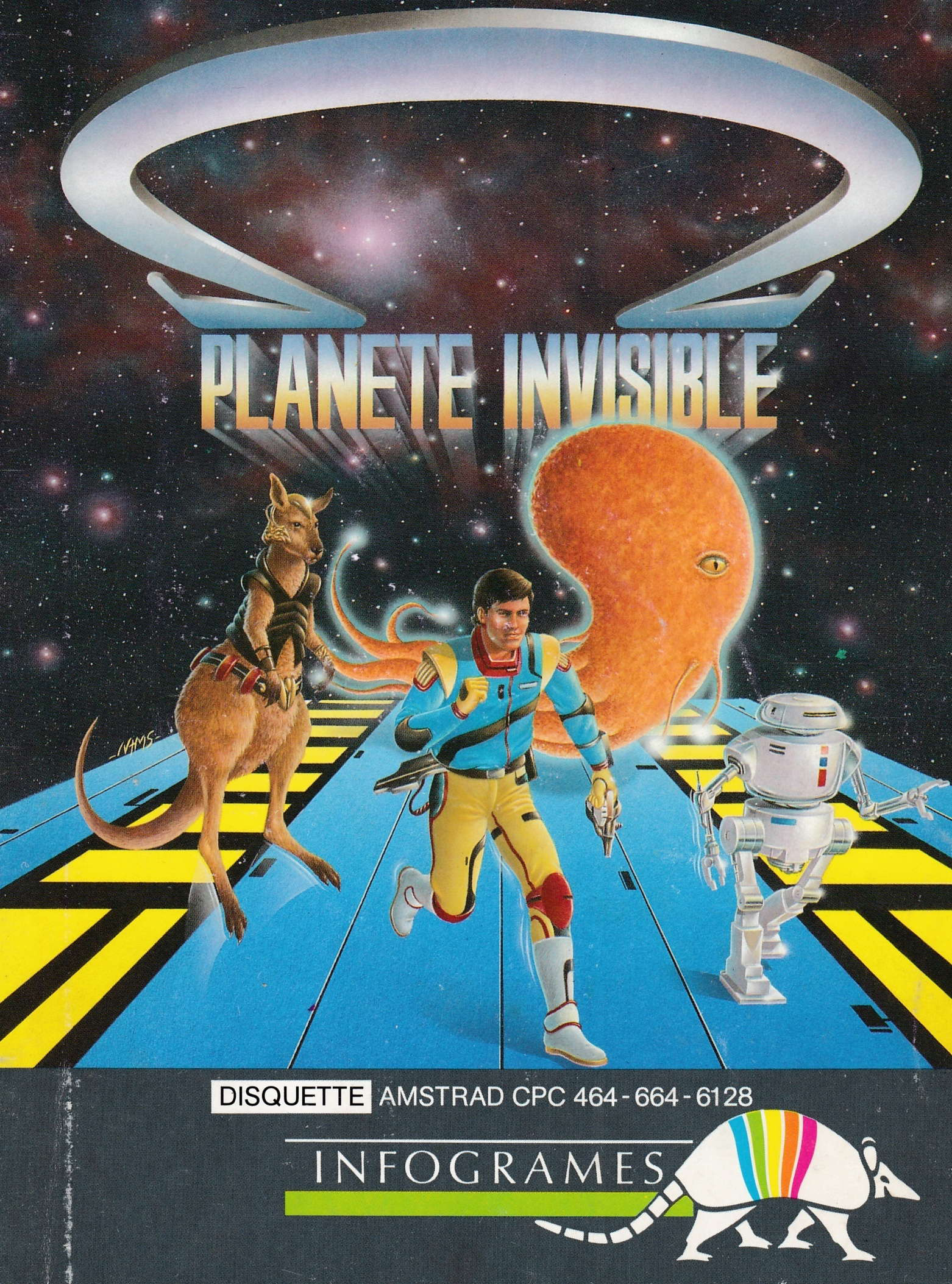 cover of the Amstrad CPC game Omega Planete Invisible  by GameBase CPC