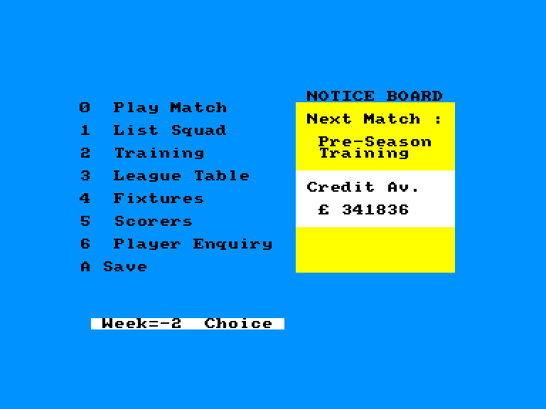 screenshot of the Amstrad CPC game On the bench by GameBase CPC