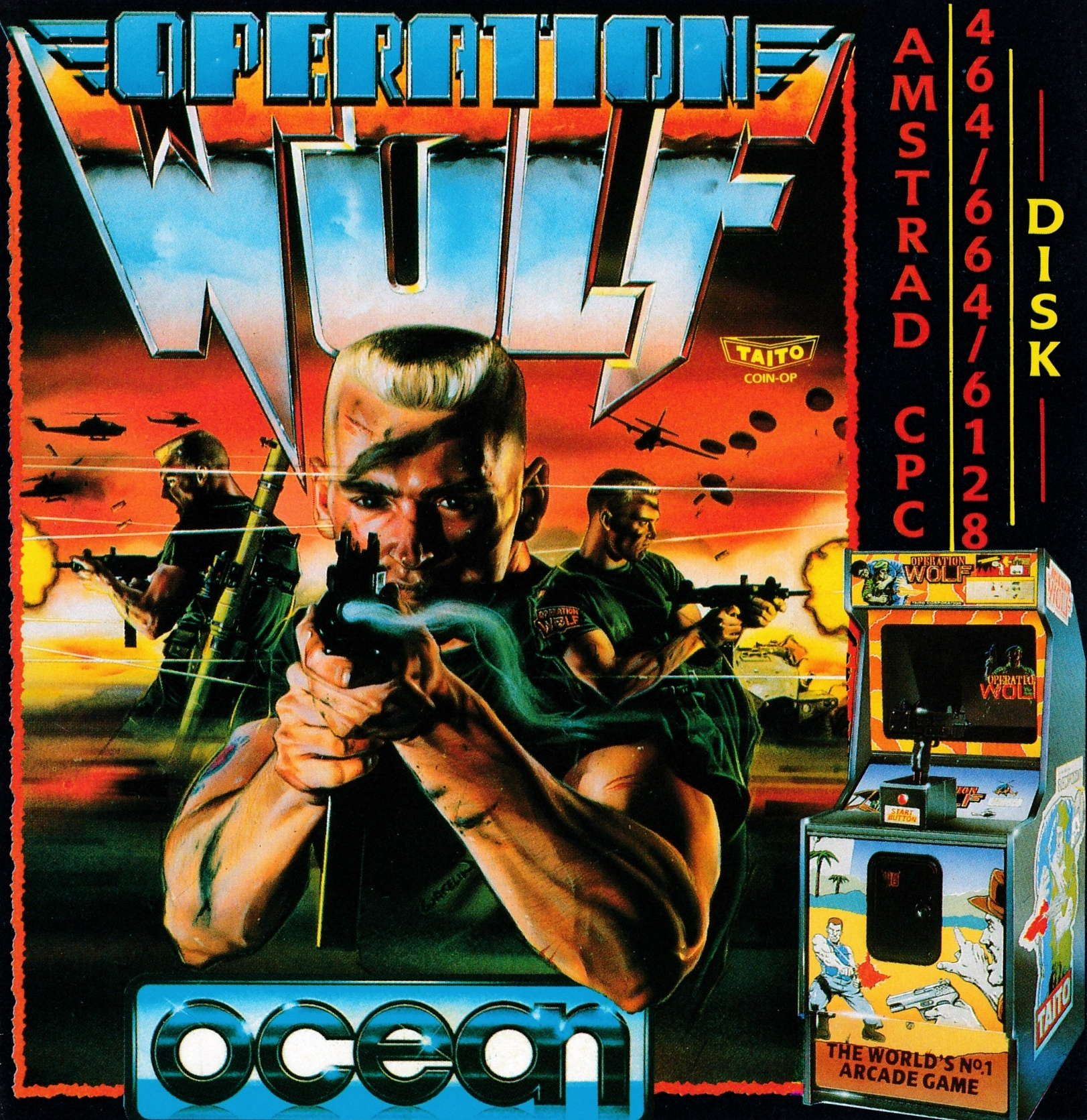 screenshot of the Amstrad CPC game Operation Wolf by GameBase CPC