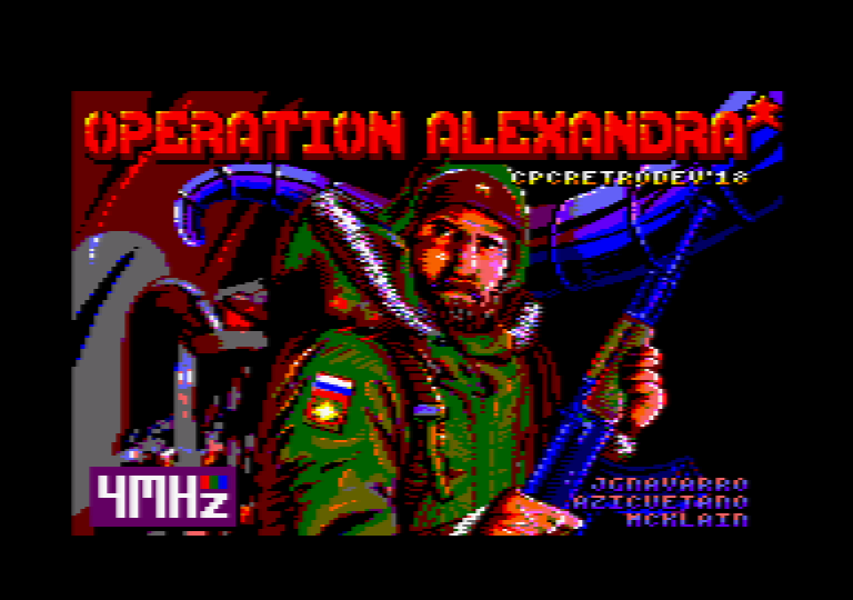screenshot of the Amstrad CPC game Operation Alexandra by GameBase CPC