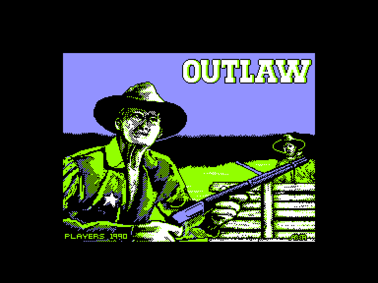 screenshot of the Amstrad CPC game Outlaw by GameBase CPC