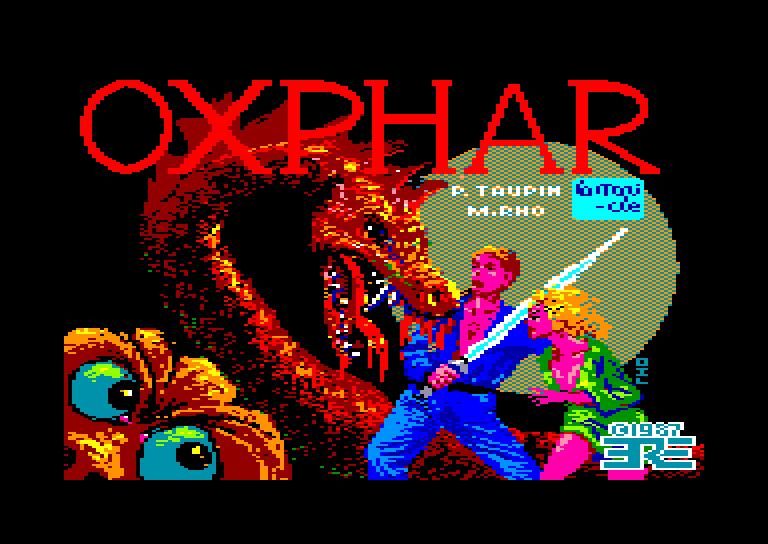screenshot of the Amstrad CPC game Oxphar by GameBase CPC