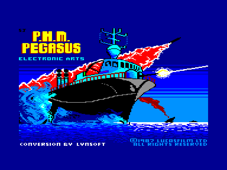 screenshot of the Amstrad CPC game Phm pegasus by GameBase CPC