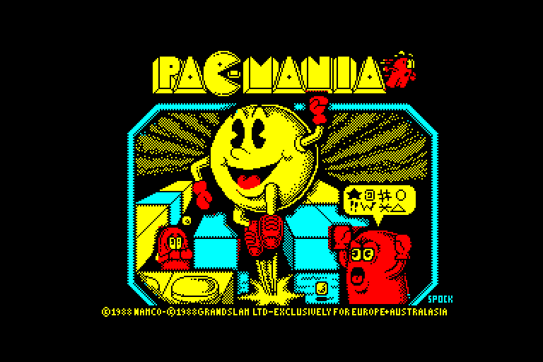 screenshot of the Amstrad CPC game Pac-Mania by GameBase CPC