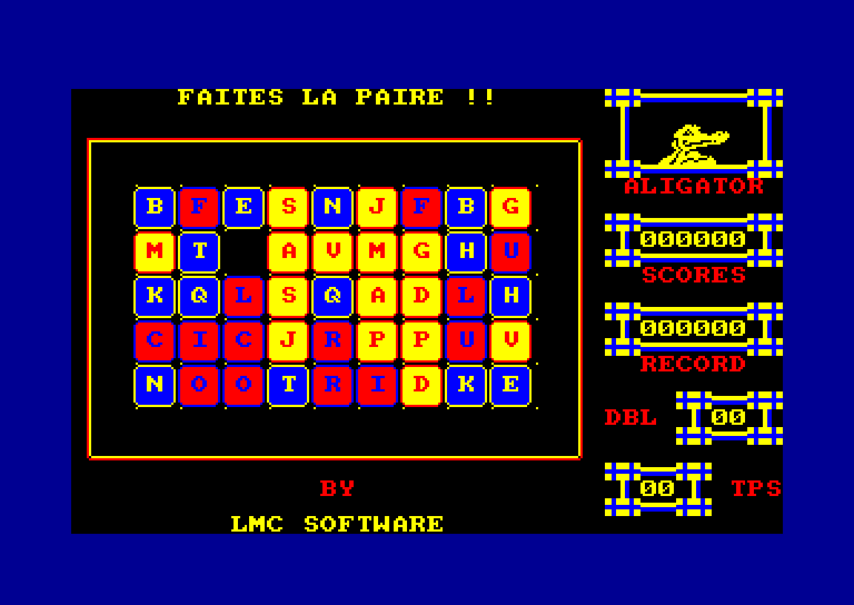 screenshot of the Amstrad CPC game Paire by GameBase CPC