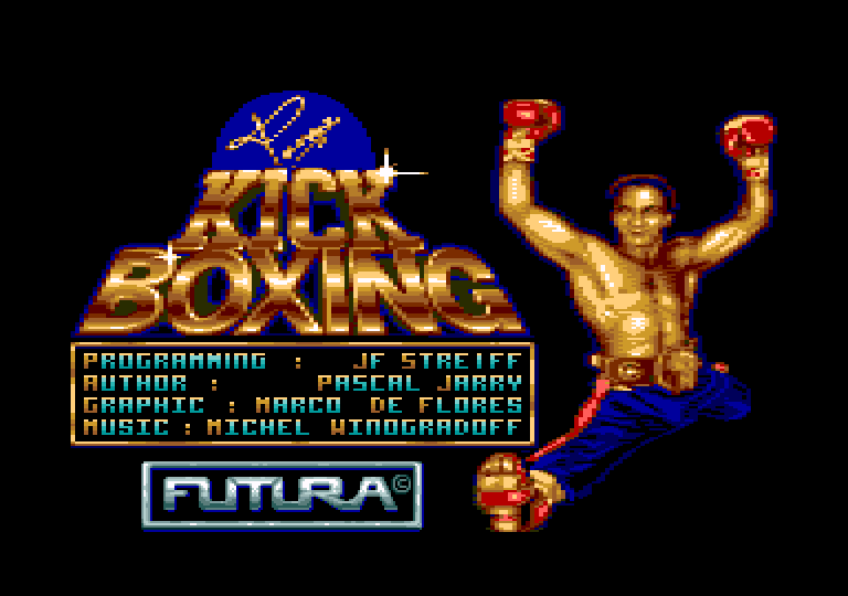 screenshot of the Amstrad CPC game Panza Kick Boxing [CPC+] by GameBase CPC