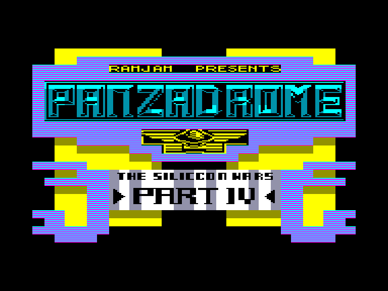screenshot of the Amstrad CPC game Panzadrome by GameBase CPC