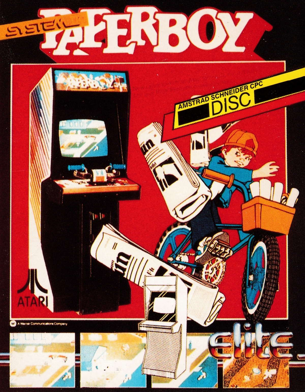 cover of the Amstrad CPC game Paperboy  by GameBase CPC
