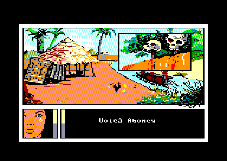 screenshot of the Amstrad CPC game Passagers du vent 2 (les) by GameBase CPC