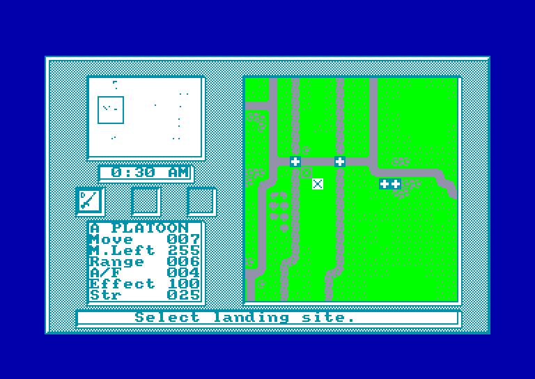 screenshot of the Amstrad CPC game Pegasus Bridge by GameBase CPC