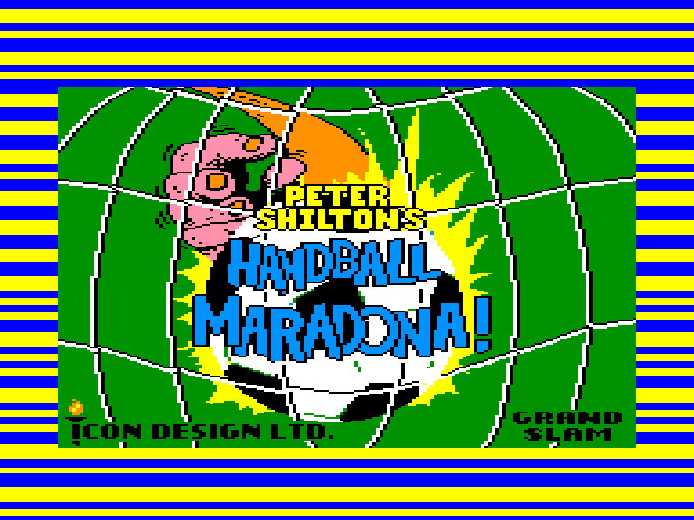 screenshot of the Amstrad CPC game Peter Shilton's Handball Maradona by GameBase CPC
