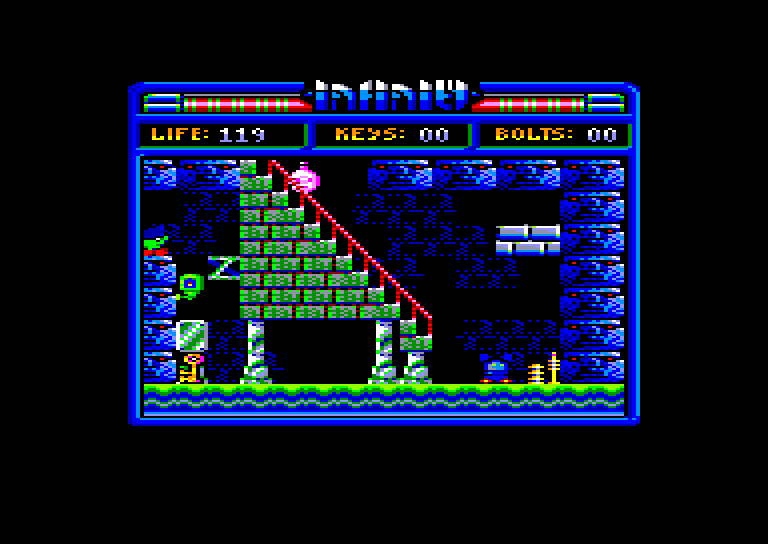 screenshot of the Amstrad CPC game Phantomas Saga - Infinity by GameBase CPC
