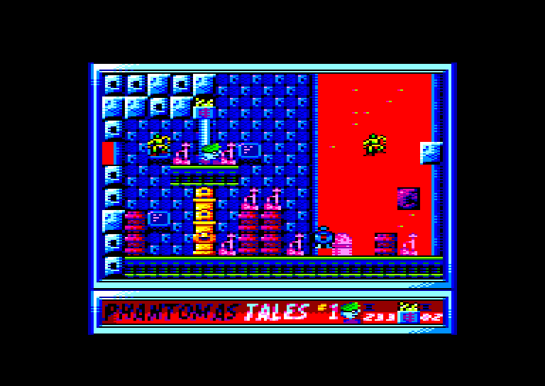 screenshot of the Amstrad CPC game Phantomas Tales #1 - Marsport by GameBase CPC