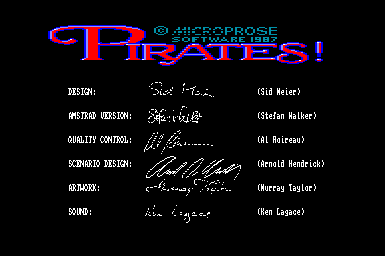 screenshot of the Amstrad CPC game Pirates ! by GameBase CPC
