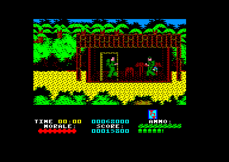screenshot of the Amstrad CPC game Platoon by GameBase CPC