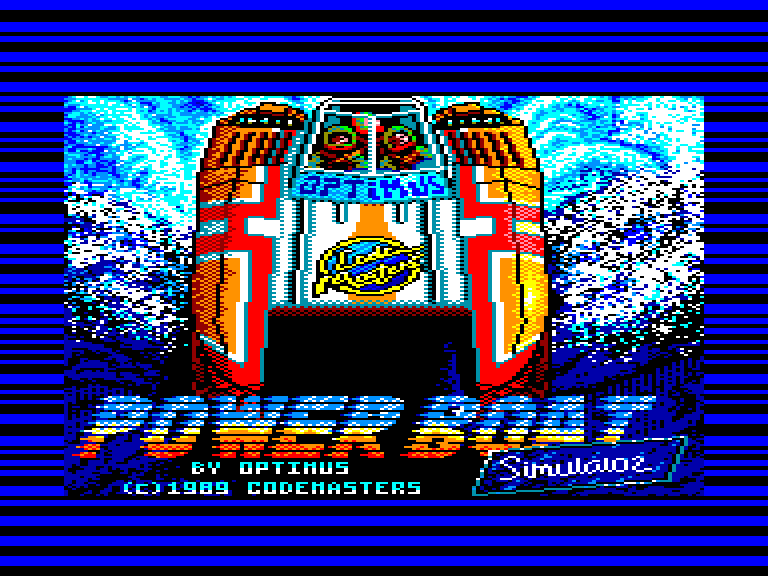screenshot of the Amstrad CPC game Power boat simulator by GameBase CPC