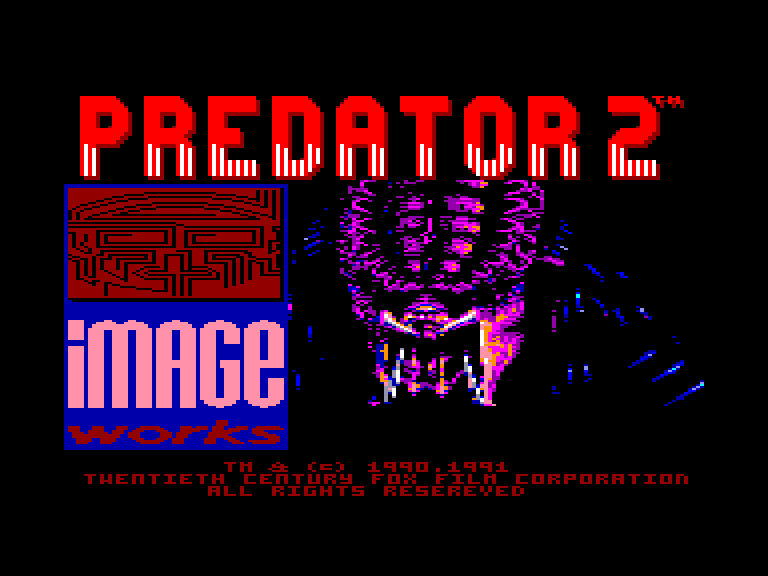 screenshot of the Amstrad CPC game Predator 2 by GameBase CPC