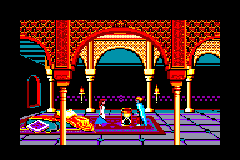 screenshot of the Amstrad CPC game Prince of Persia by GameBase CPC