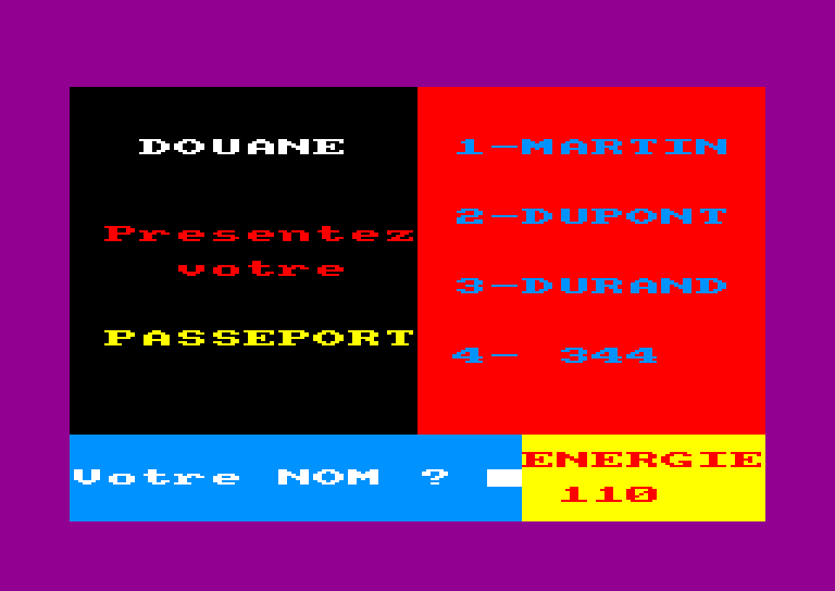 screenshot of the Amstrad CPC game Prisonnier (le) by GameBase CPC