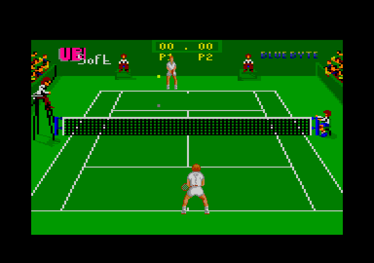 screenshot of the Amstrad CPC game Pro Tennis Tour - Great Courts by GameBase CPC