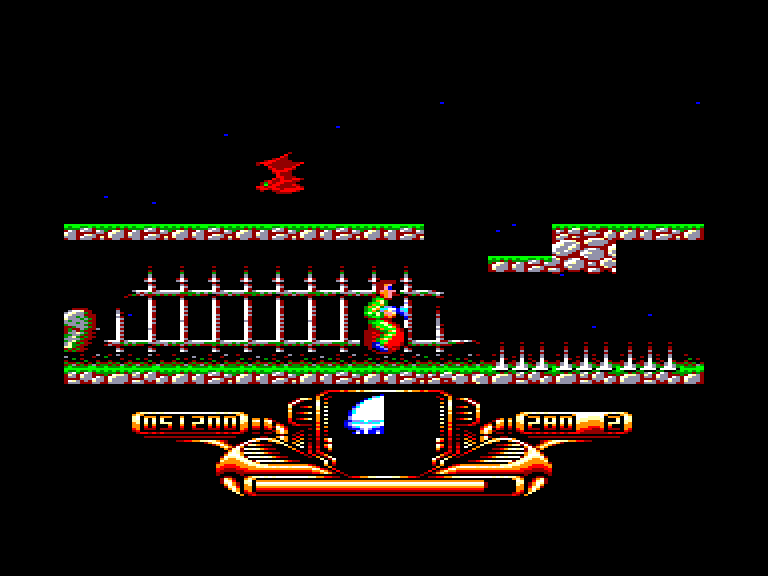 screenshot of the Amstrad CPC game Psycho hopper by GameBase CPC