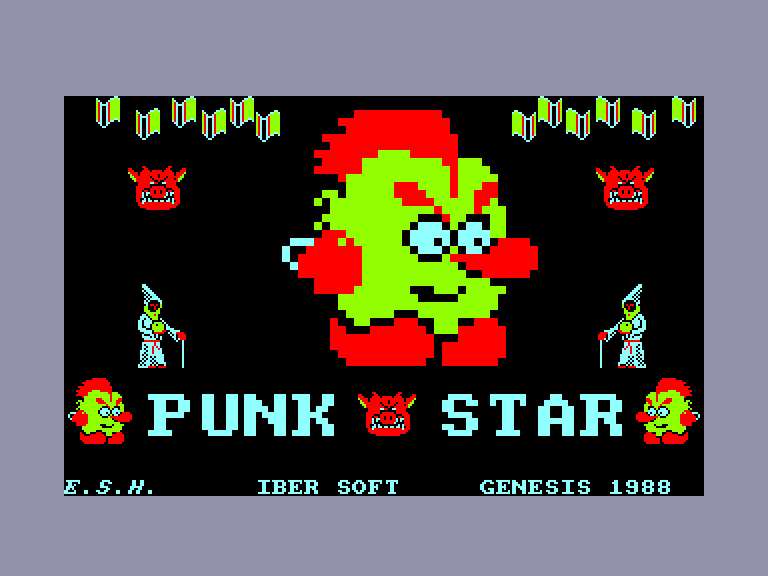 screenshot of the Amstrad CPC game Punk star by GameBase CPC