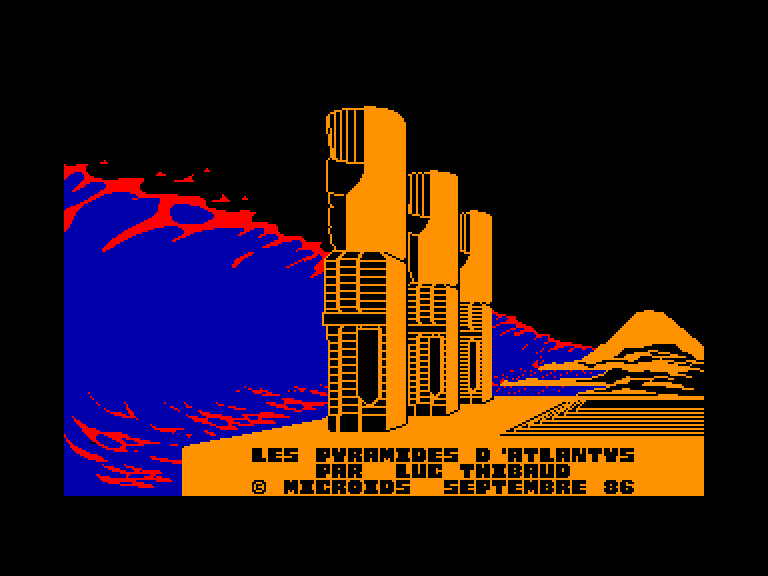 screenshot of the Amstrad CPC game Pyramides d'atlantys (les) by GameBase CPC
