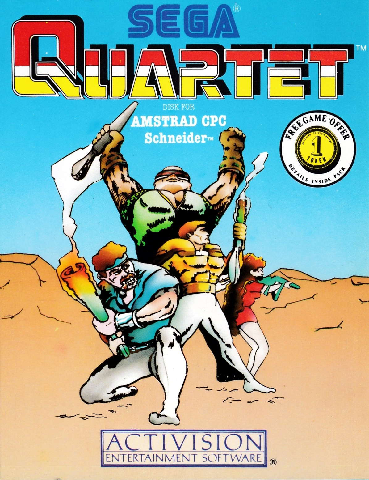 screenshot of the Amstrad CPC game Quartet by GameBase CPC
